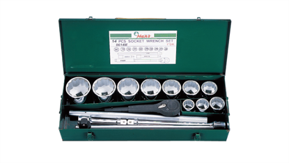 """Picture of Hans 1"""" Drive 14 Pcs. Socket Wrench Set - 8614 - Inches Size"""