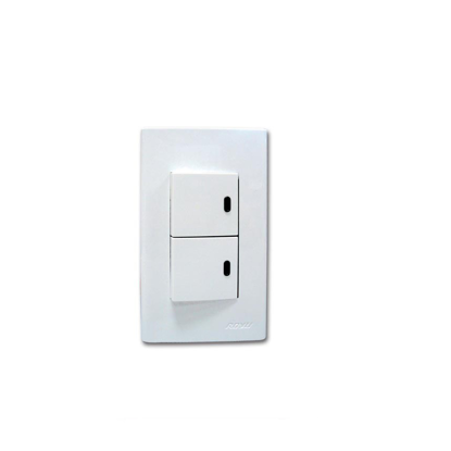 Picture of Royu 2 Gang Switch with LED Set WD603