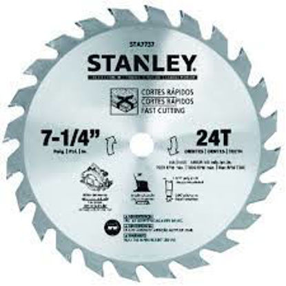 Picture of Stanley Circular Saw Blade Carbide Teeth 24T x 7-1/4