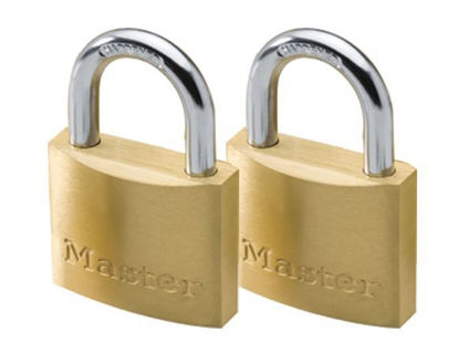 Picture of Master Lock 20MM Hard Steel Shackle 2 Pieces Key-Alike Brass Padlock, MSP1900T