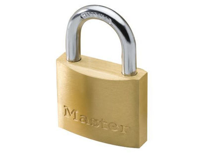 Picture of Master Lock 60MM Hard Steel Shackle Brass Padlock, MSP1904D