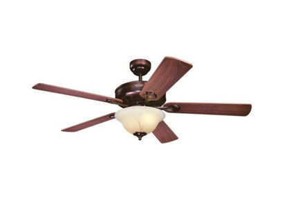 "Picture of Westinghouse Bethany Rustic Bronze Finish 5 Blades 52"" with Mahogany / Rich Walnut Blades"