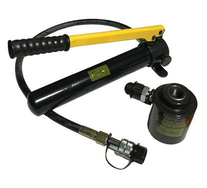 Picture of S-Ks Tools USA JMSYK-8D 11 Ton Hydraulic Knock Out Punch Driver Kit Hole Tool Hand Pump (Black/Yellow)