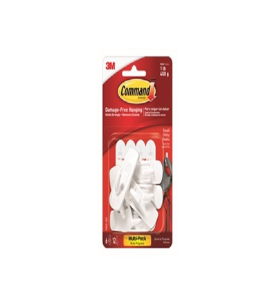 Picture of 3M Command hooks value pack medium 6 hooks 12 strips