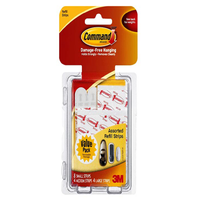 Picture of 3M Command Adhesive Strips Assorted