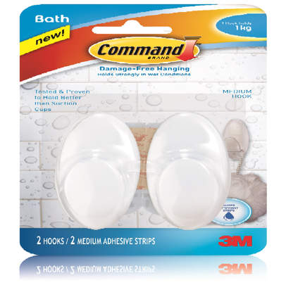 Picture of 3M Command Bath Med. Hooks 2pc.