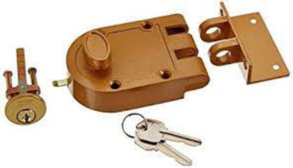 Picture of ZENITH DEADLOCK SGL CYLINDER ANT.BRASS