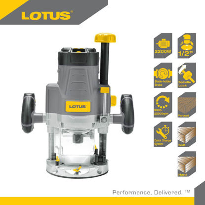 "Picture of Lotus Plunge Router 1/2"" 2200W LTPR2200X"
