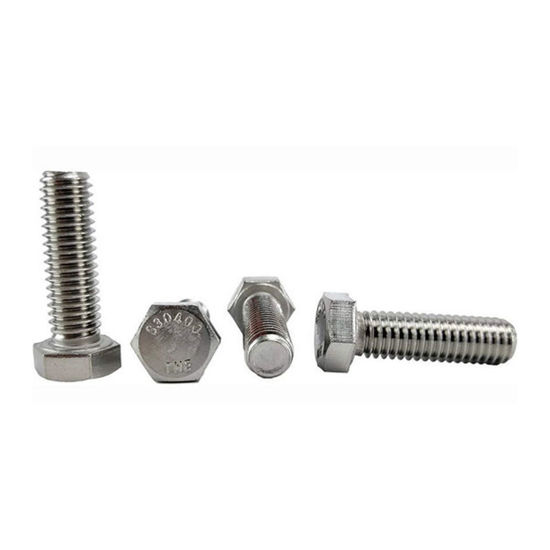 Picture of 304 Stainless Steel Hex Head Screw Bolts, Metric Size From M4 to M36, 304STCS, Metric Size
