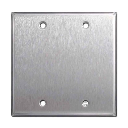 Picture of Double Gang Blank Cover Steel 2BC