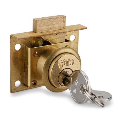Picture of Drawer Locks Flat Bolt Brass Deadbolt 555B