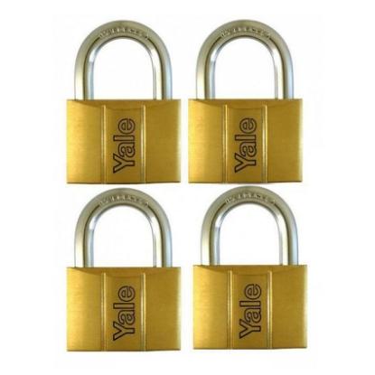 Picture of Brass Padlocks Key Alike 4 Pieces, Multi-Pack V140.60KA4