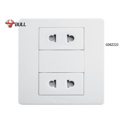 Picture of Bull 2 Gang Universal Outlet Set (White), G06Z222