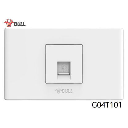 Picture of Bull 1 Gang Telephone Outlet Set (White), G04T101