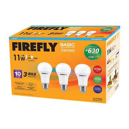 Picture of Firefly LED A-Bulb 3 Bulb Value Pack (3 watts, 5 watts, 7 watts, 9 watts, 11 watts), V30EBI103DL